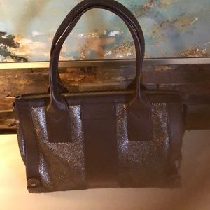 Fossil leather brown satchel